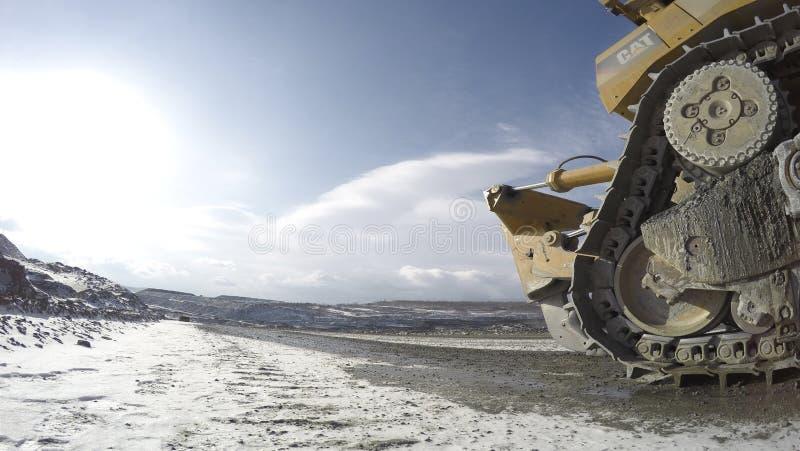 bulldozer royaltyfria bilder