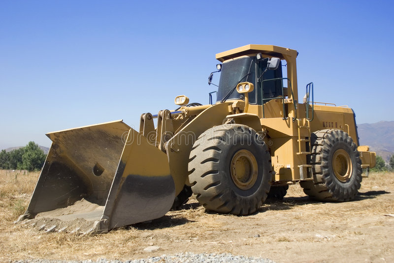 Bulldozer royalty-vrije stock afbeelding