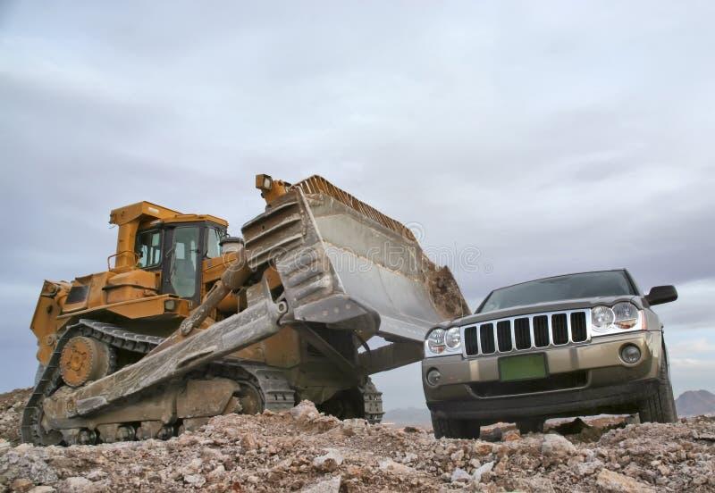 Bulldozer royalty-vrije stock foto
