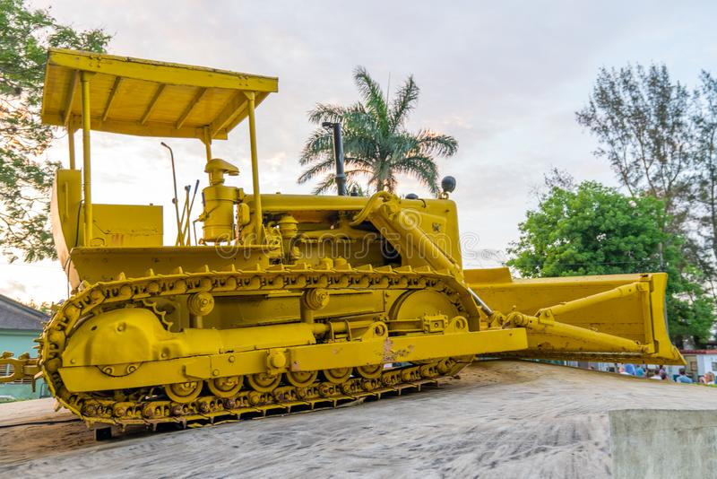 Bulldozer of Armoured Train or Tren Blindado monument. Bulldozer  of Armoured Train or Tren Blindado national monument and museum of Cuban Revolution in Santa royalty free stock images