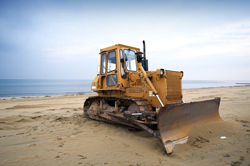 Download Bulldozer on the beach stock photo. Image of coastline - 24528136