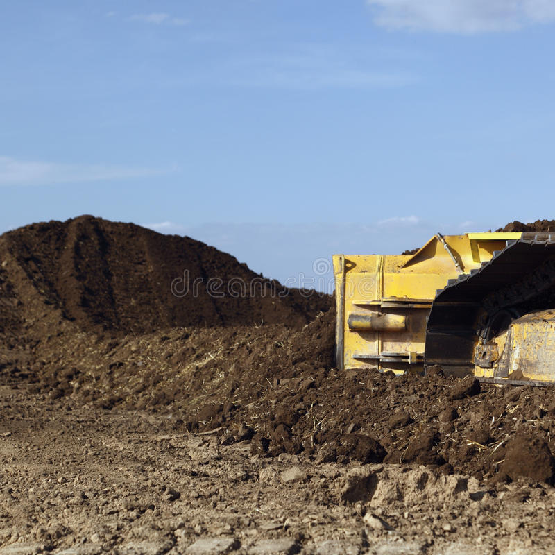 Bulldozer blade stock photos