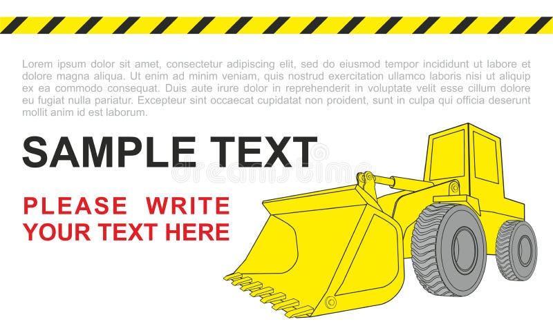 Bulldozer, bouwvoertuigen Eenvoudig het bulldozing concept vector illustratie