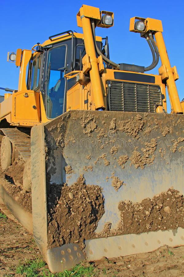 Download The Bulldozer On A Building Site Stock Image - Image: 26975701