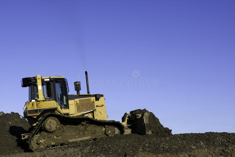 Bulldozer Clearing Land royalty free stock photography