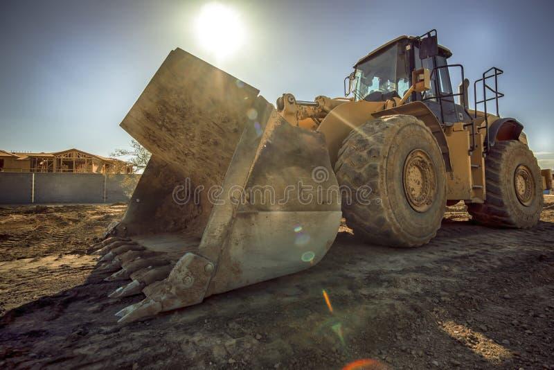 Bulldozer del toro su un cantiere immagini stock
