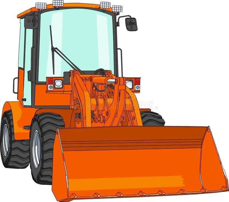 Bulldozer di vettore royalty illustrazione gratis