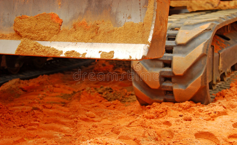 Bulldozer and Dirt royalty free stock images