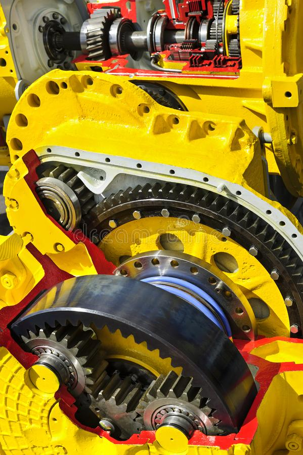 Bulldozer drive gear mechanism royalty free stock image