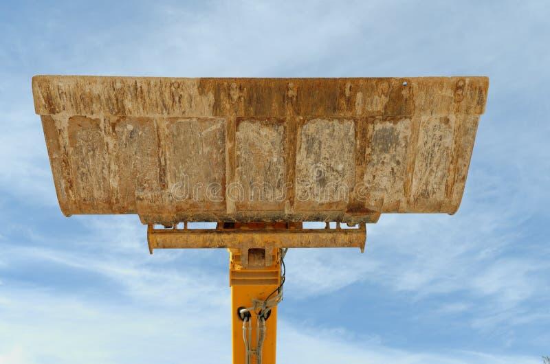 Bulldozer Excavation Scoop On Sky Background Royalty Free Stock Photos