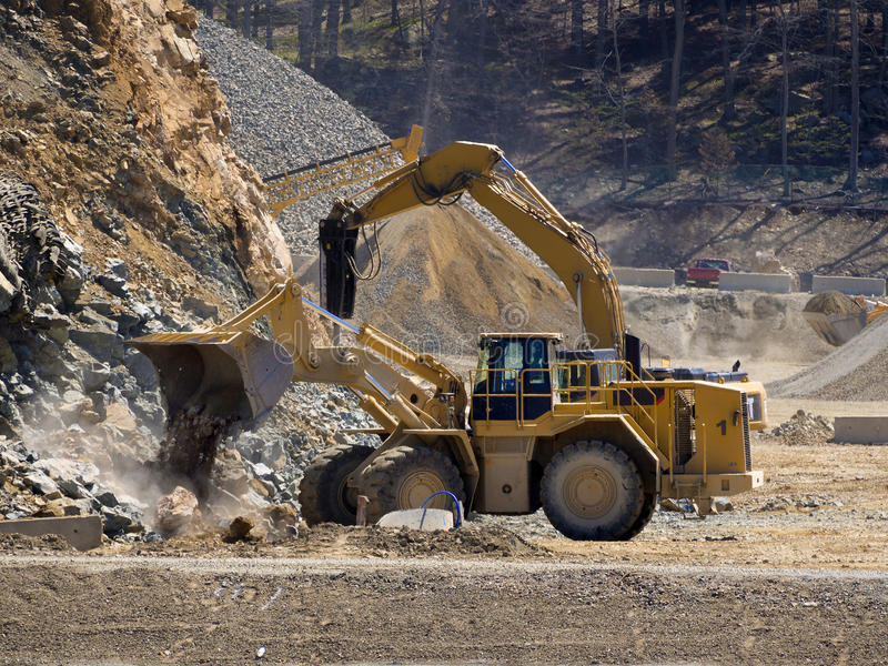 Bulldozer front end loader royalty free stock photo