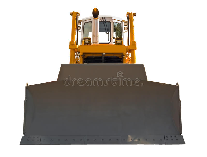 Bulldozer, front view stock image