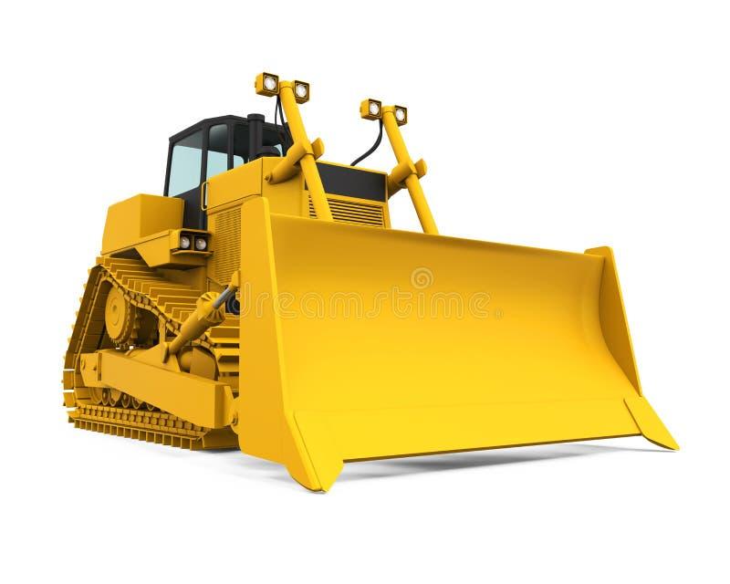 Bulldozer giallo fotografie stock libere da diritti