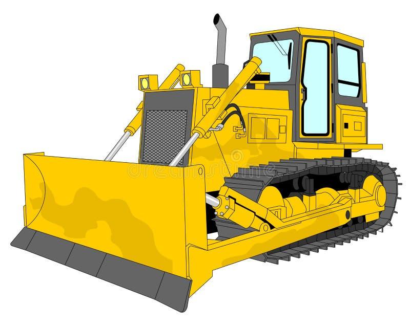 Bulldozer illustration royalty free stock image