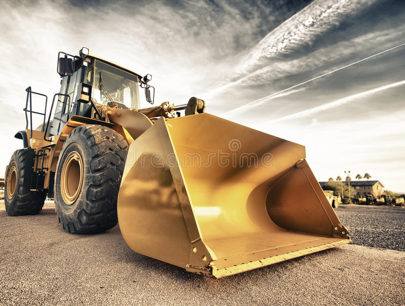 Bulldozer industrial equipment royalty free stock photo