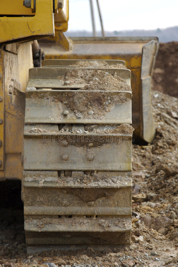 Bulldozer or Machinery Tracks. Bulldozer or Machinery Track Detail royalty free stock photography