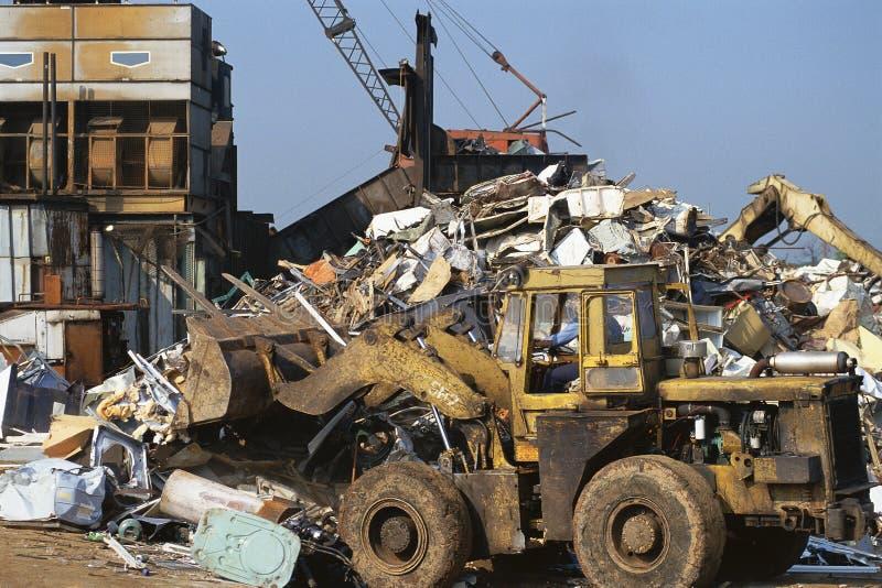Bulldozer nel deposito urbano fotografie stock