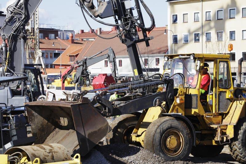 Bulldozer nell'azione fotografia stock libera da diritti