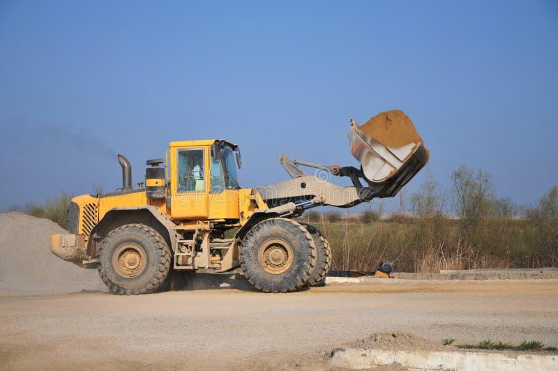 Bulldozer op het werk stock foto's