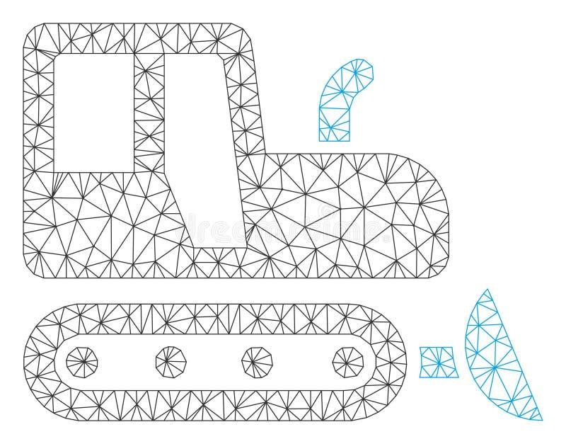 Bulldozer Polygonal Frame Vector Mesh Illustration vector illustration
