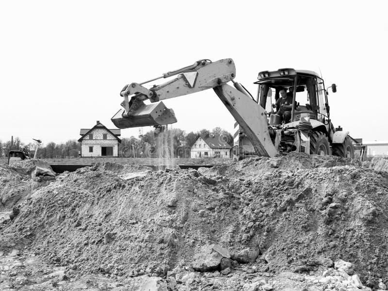 Bulldozer sul cantiere fotografie stock