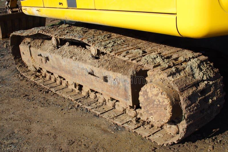 Bulldozer Track. Dirty bulldozer track on dirt royalty free stock image