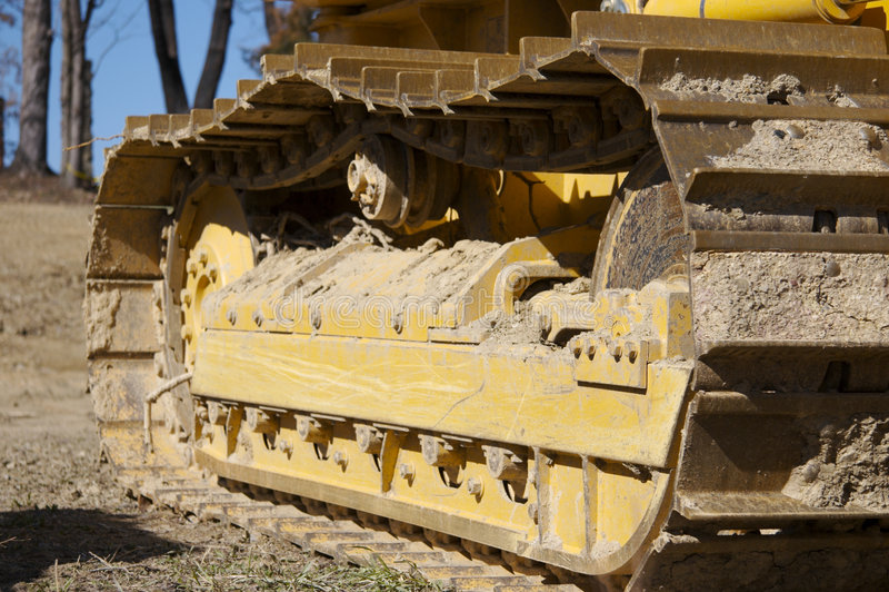 Bulldozer Track. Detail royalty free stock photos