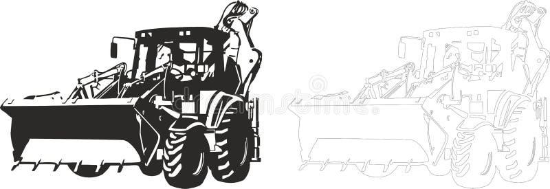 Bulldozer royalty free illustration