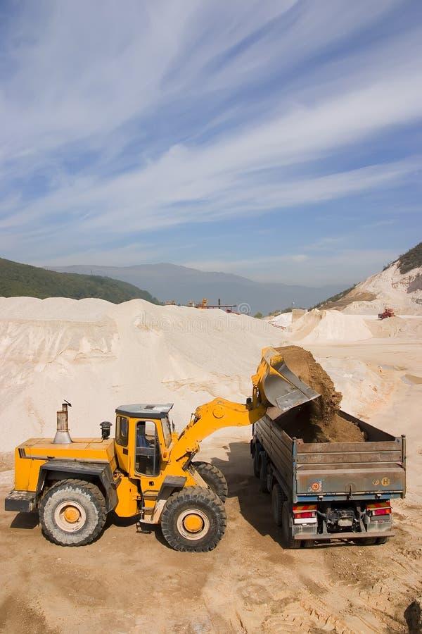 Download Bulldozer at work stock photo. Image of excavator, sand - 4058954