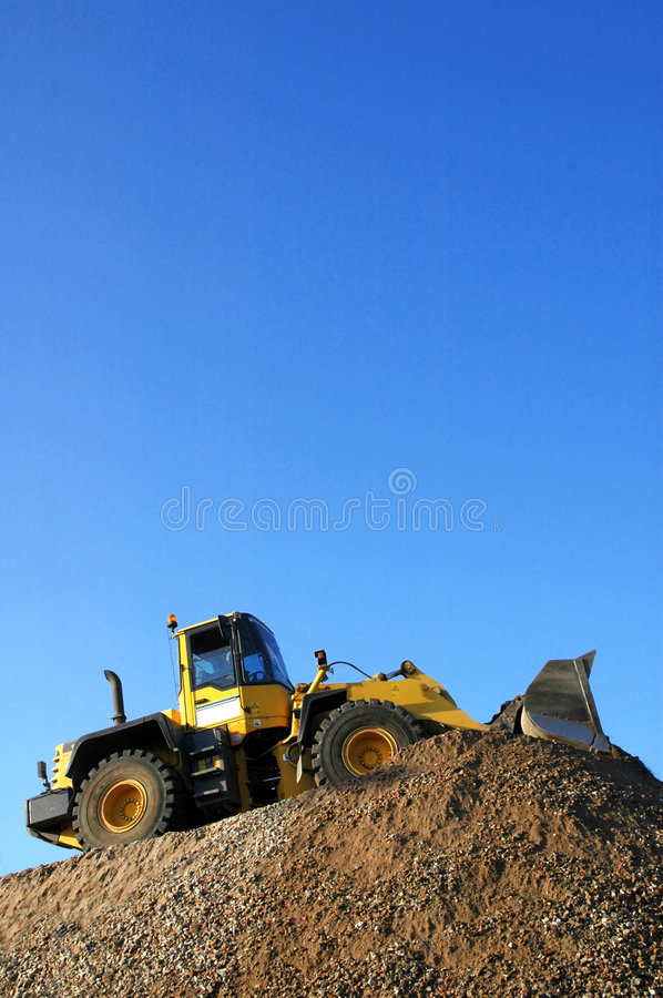 Bulldozer at Work royalty free stock images