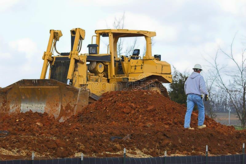 Bulldozer Working royalty free stock photos
