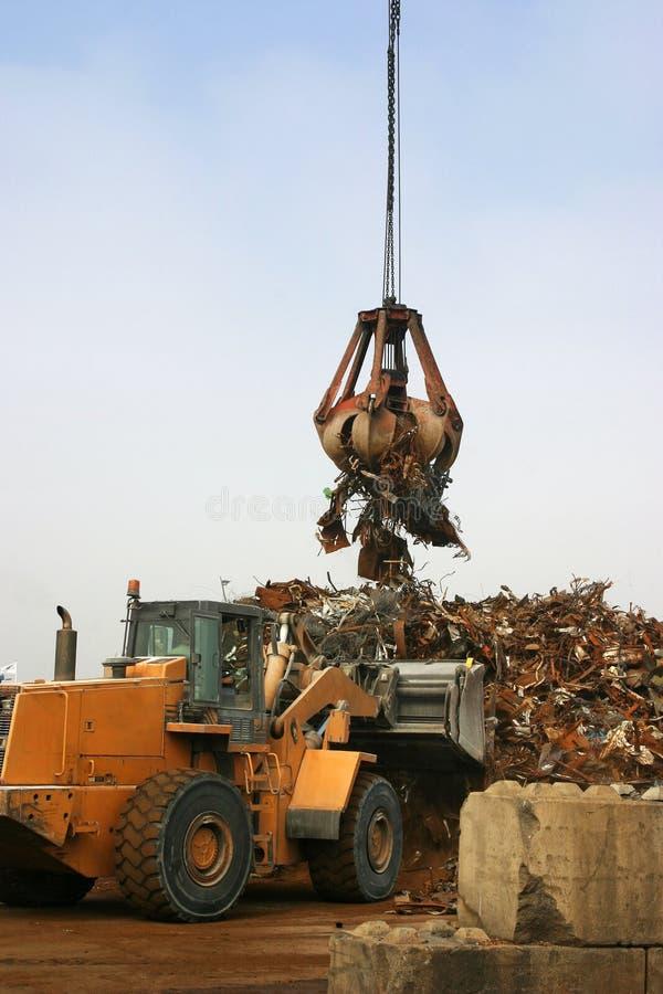 bulldozermetallrest royaltyfria foton