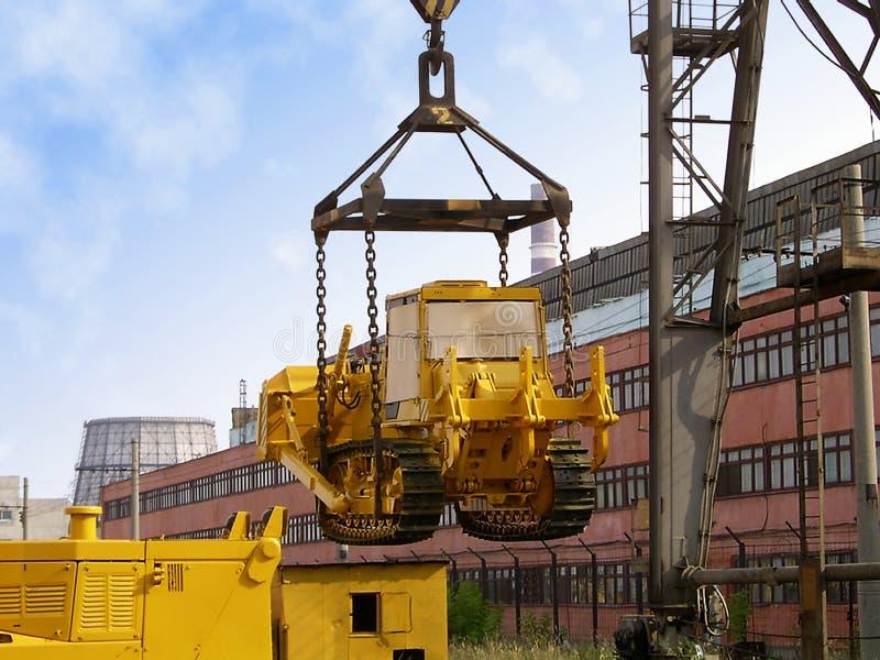 bulldozerpäfyllning arkivfoton