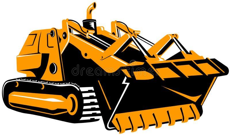 bulldozerwhite vektor illustrationer