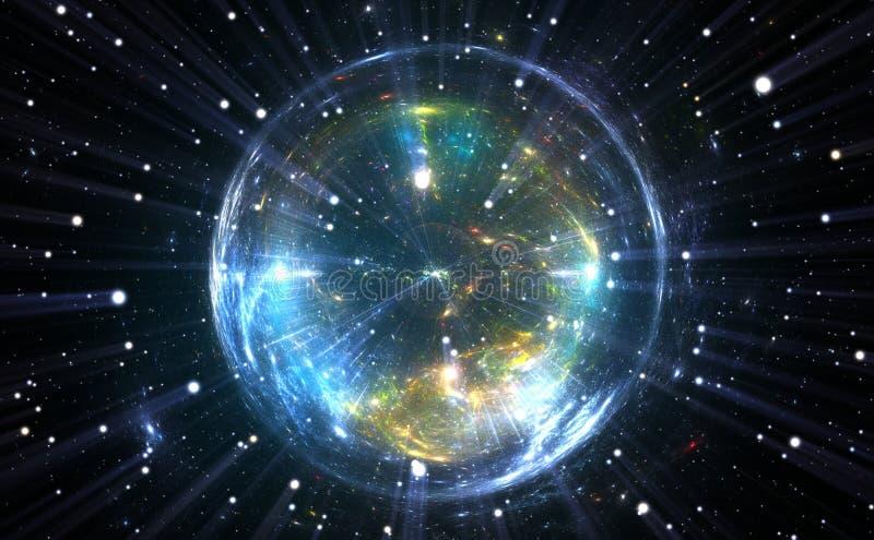 Bulle énergique sphérique de quantum illustration libre de droits