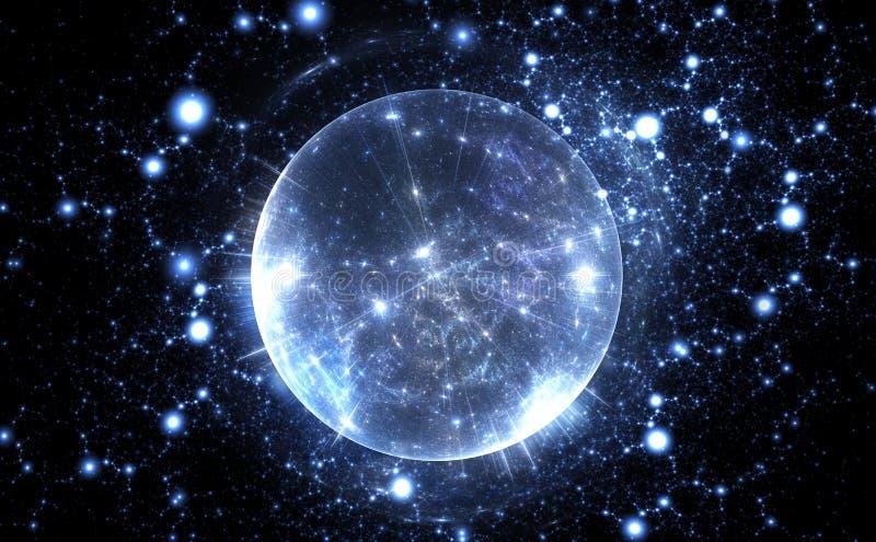 Bulle énergique sphérique de quantum illustration de vecteur