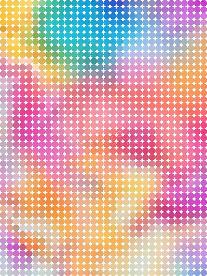 Bulle abstraite avec le fond coloré en pastel illustration de vecteur