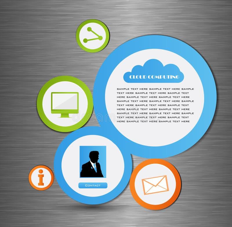 Bulle abstraite de conception de Web illustration de vecteur