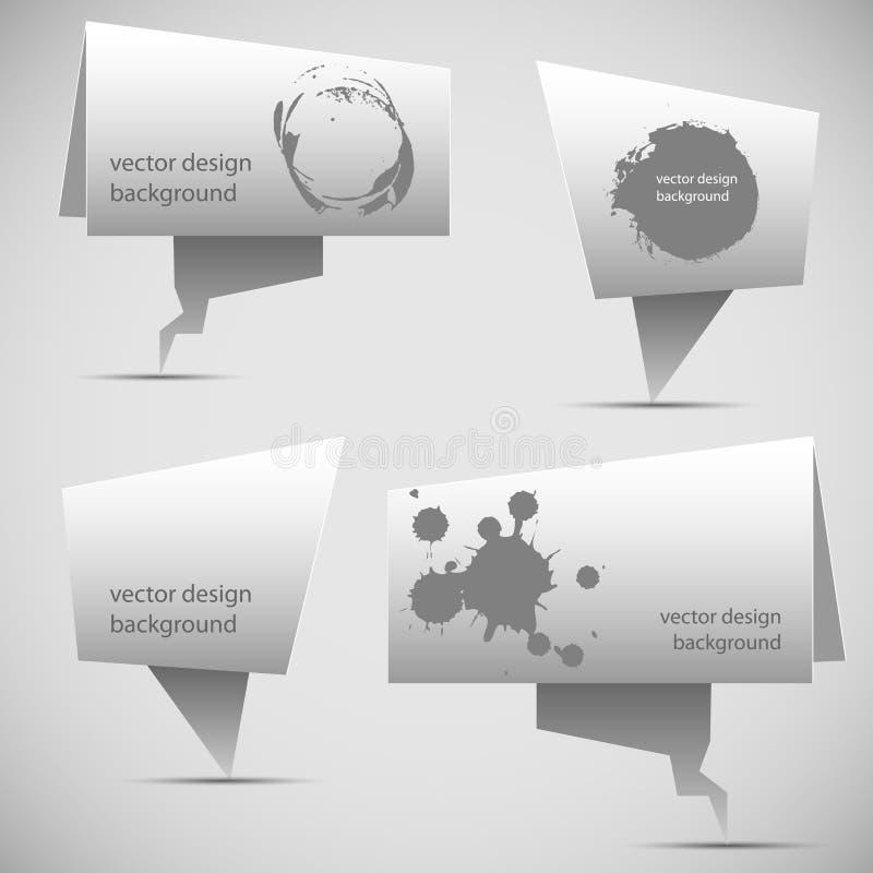Bulle abstraite de la parole d'origami illustration de vecteur