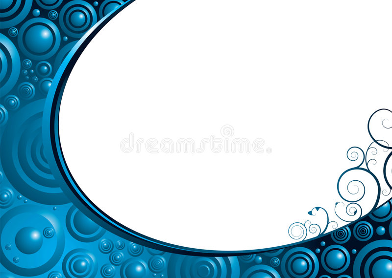 Bulle bleue florale illustration stock