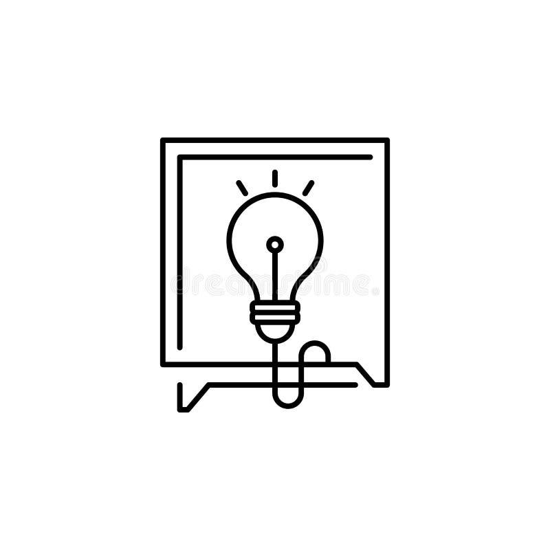 bulle, chat, icône de conseil Élément de l'icône de piratage de croissance Icône de ligne mince pour la conception et le développ illustration libre de droits