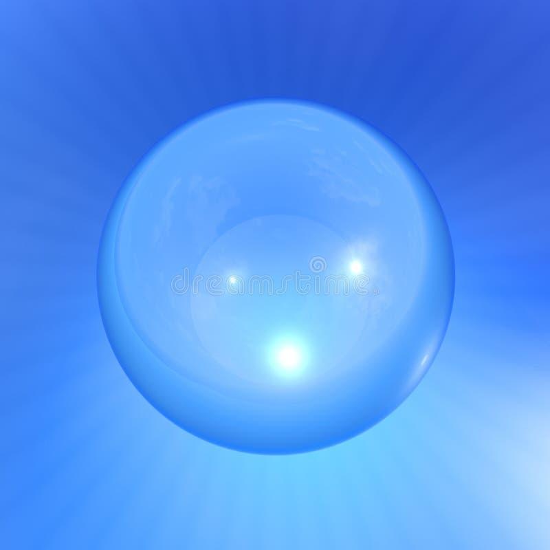 Bulle d'air bleu clair transparent illustration libre de droits