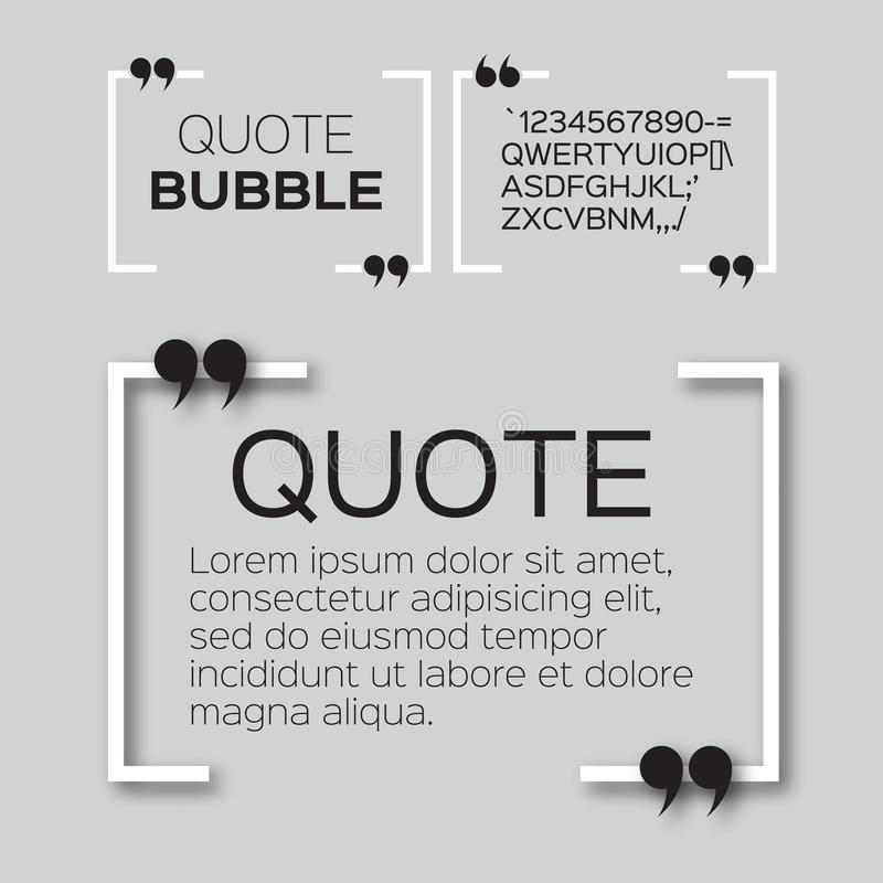 Bulle de citation illustration stock