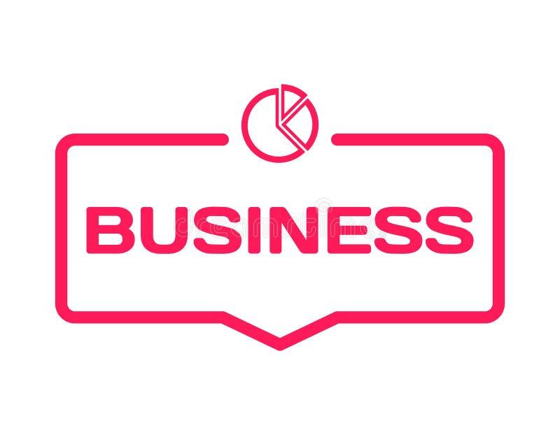Bulle de dialogue de calibre de réussite commerciale dans le style plat sur le blanc Emboutissez avec l'icône de diagramme pour l illustration stock