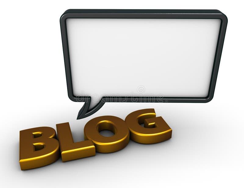 Bulle de la parole de blog illustration de vecteur