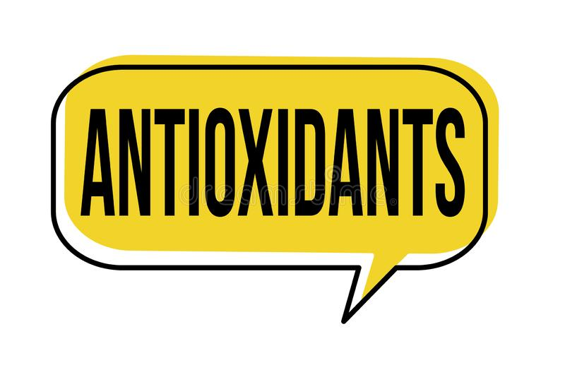 Bulle de la parole d'antioxydants illustration stock