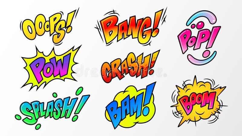 Bulle de la parole d'explosions de bande dessinée illustration de vecteur