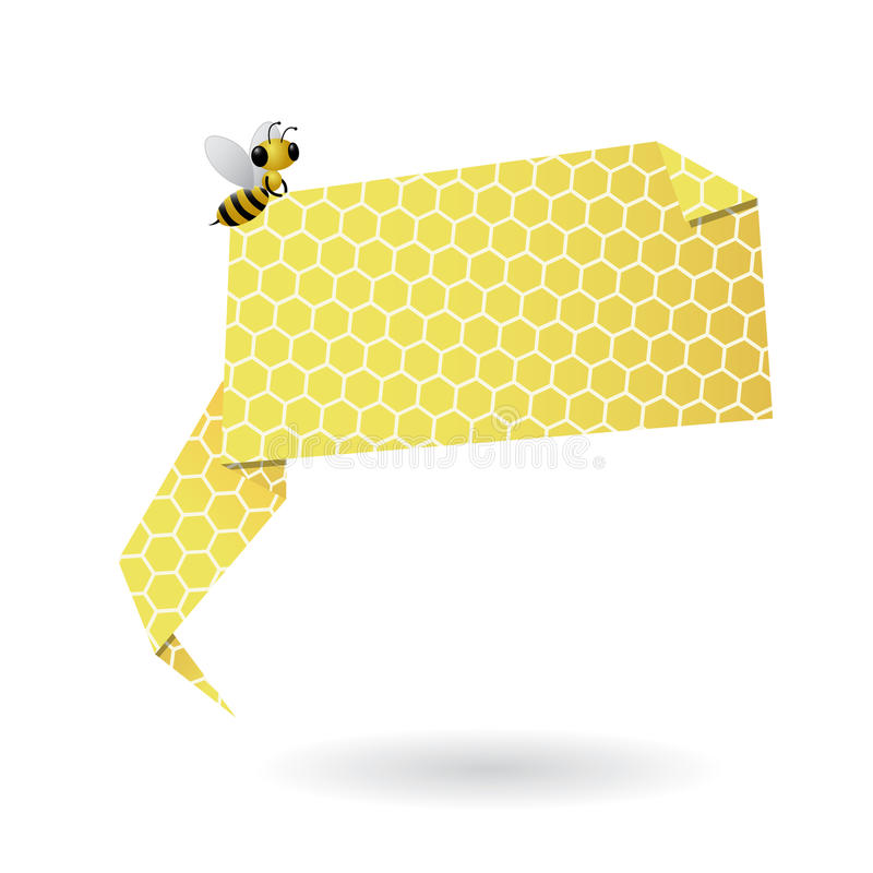 Bulle de la parole d'origami de nid d'abeilles illustration libre de droits