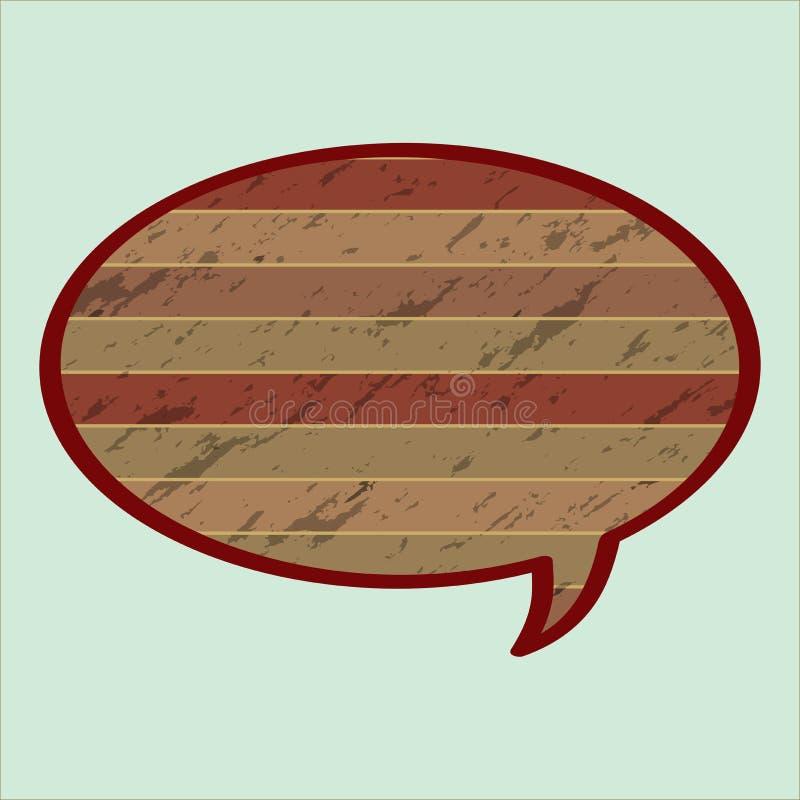 Bulle de la parole dans le style en bois illustration libre de droits