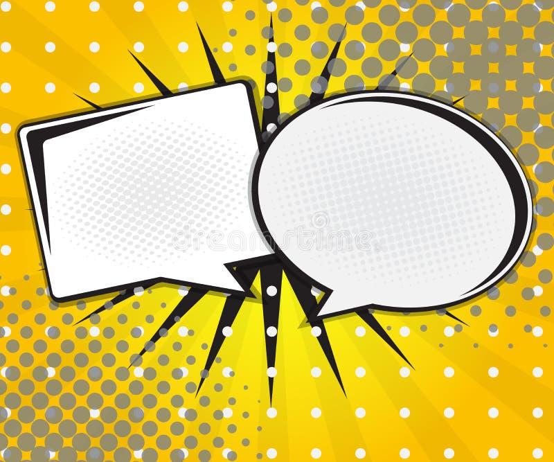 Bulle de la parole de bande dessinée, bande dessinée d'art de bruit illustration libre de droits